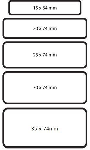 Prestige Name Badge Sizes